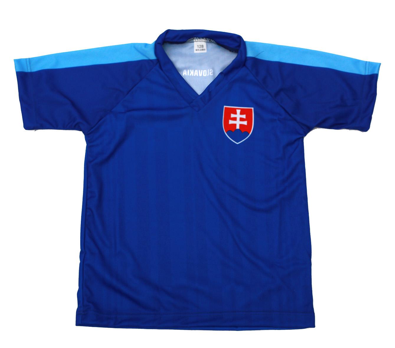 ee1ed77ad873b Futbalový dres Slovensko - detský, modrý, reprezentačný