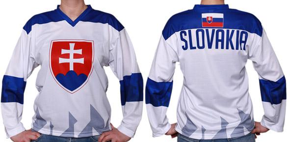 150b3d27daca7 Slovakia hokejový dres 2019 biely pre dospelých