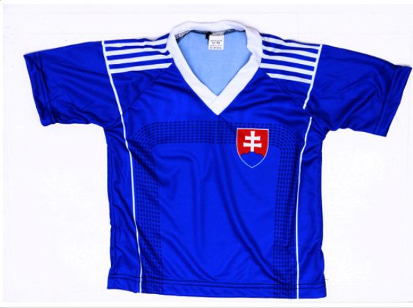 a70e3b6c41672 Futbalový dres Slovensko - detský, modrý